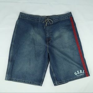 Vintage 90s Polo Ralph Lauren Denim Shorts XL